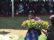The First Deputy Speaker, Hon. Catherine Namugala, MP lays a Wreath on the Grave of the late Hon. Victoria Kalima
