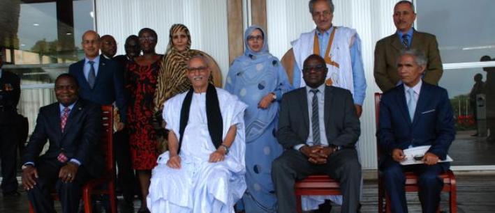 Hon. Dr. Patrick Matibini with His Excellency Mr Brahim Ghali President of Sahrawi Arab Republic
